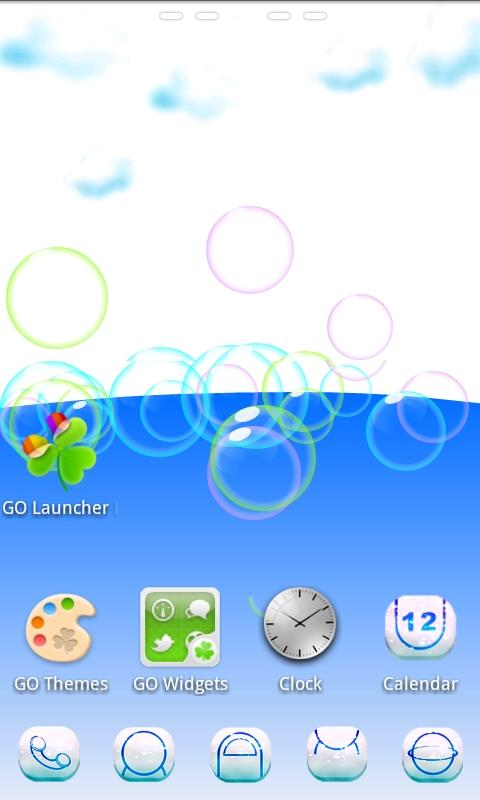 Cloud 3D Theme GO Launcher EX - screenshot