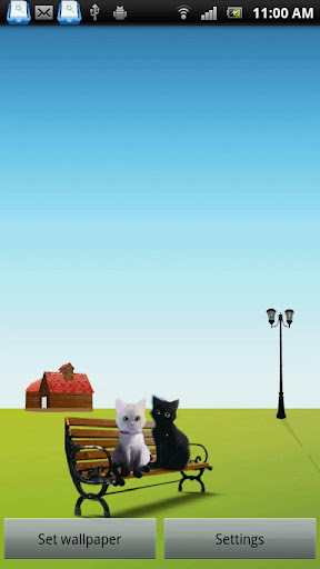 Two Cats Live Wallpaper Lite