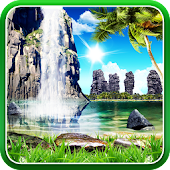 Tropical 3D Waterfall HD