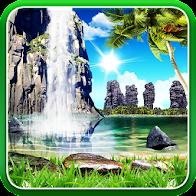Tropical 3D Waterfall HD