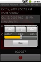 Screenshot of Sound Recorder Widget