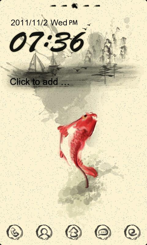 Z Fish Theme GO Launcher EX - screenshot