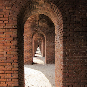 Arches of Jefferson by Jay Anderson - Buildings & Architecture Decaying & Abandoned ( sand, brick, arches, jefferson, fort, , abandoned, building )