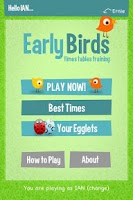Screenshot of Early Birds Times Tables