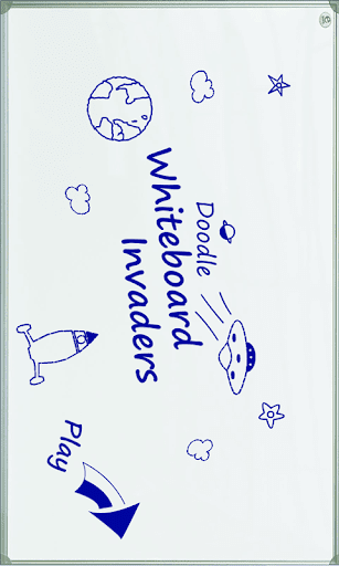 Doodle Whiteboard Invaders