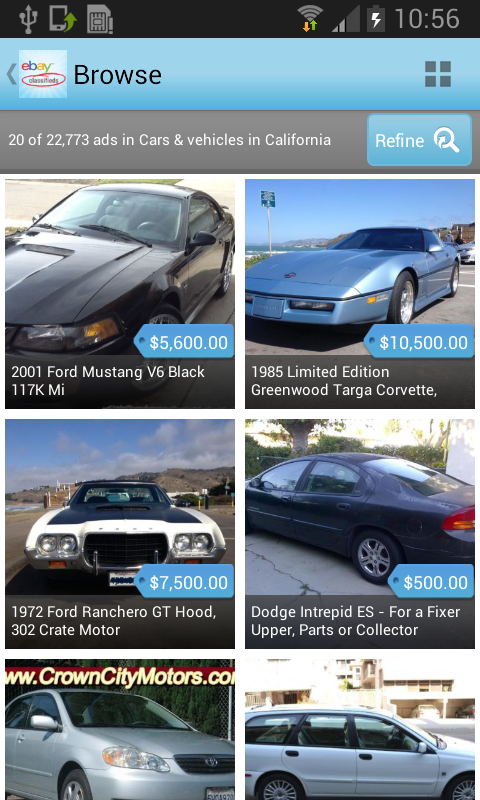 eBay Classifieds- screenshot