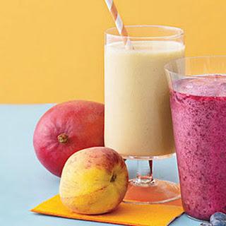 Mango-Peach Smoothie.