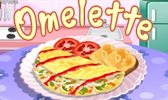 Screenshot of Omelette Cooking Game