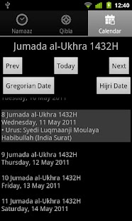 Namaaz Times for Mumineen - screenshot thumbnail