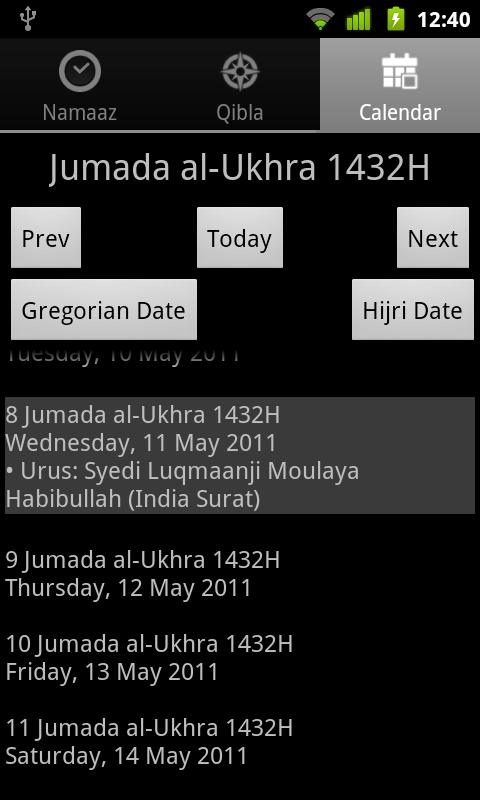 Namaaz Times for Mumineen - screenshot