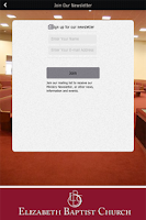 Screenshot of Elizabeth Baptist Church