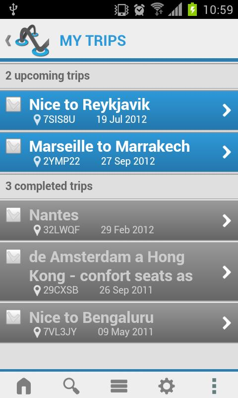 CheckMyTrip - screenshot