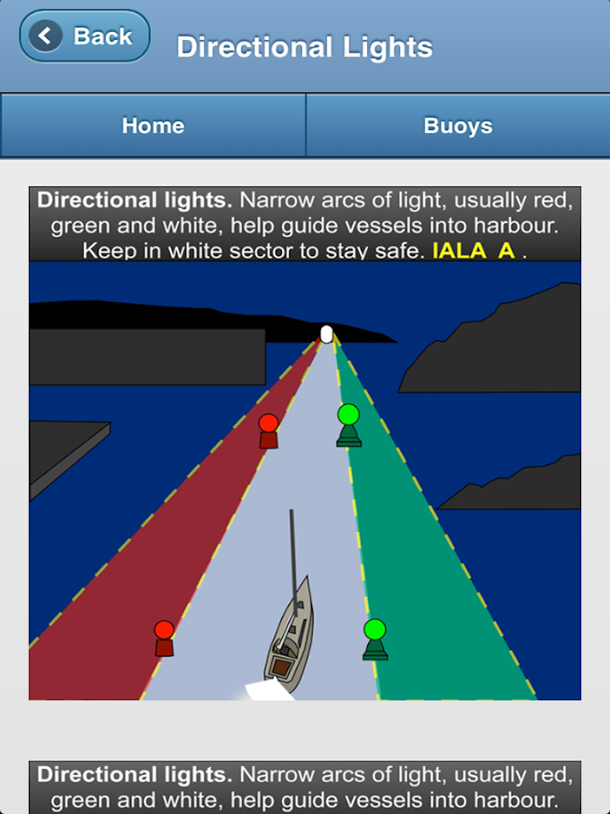IALA Buoyage & Lights at Sea - screenshot