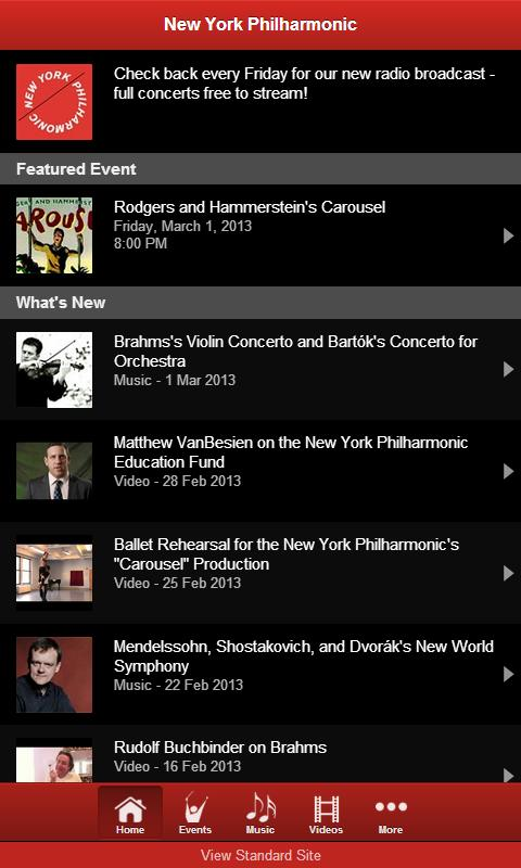 New York Philharmonic - screenshot