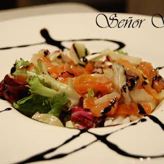Smoked Salad with Vinaigrette.