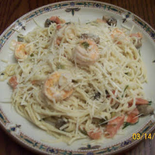 Champagne Shrimp and Pasta.