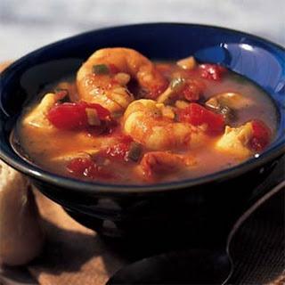 Orange-Saffron Shrimp-and-Snapper Stew.