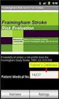 Screenshot of Framingham Stroke Risk Score