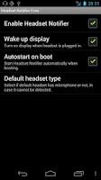 Screenshot of Headset Notifier Free