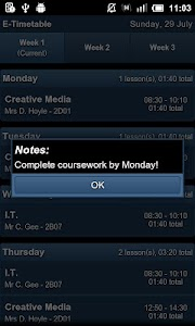 E-Timetable screenshot 2