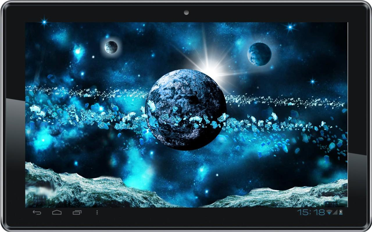 Space Ice World live wallpaper- screenshot