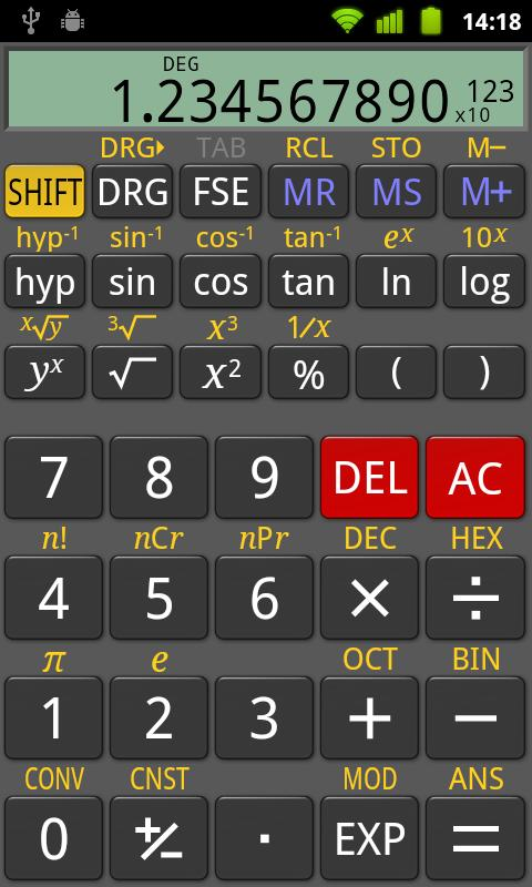 RealCalc Scientific Calculator - screenshot