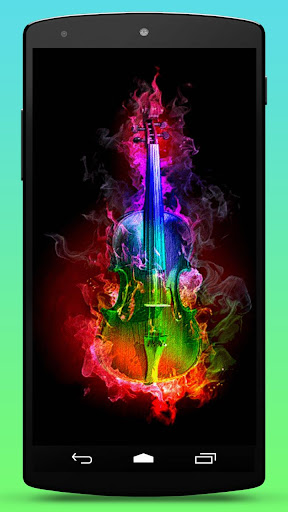 Violin Rainbow Live Wallpaper