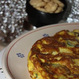 Crunchy Zucchini Omelet.