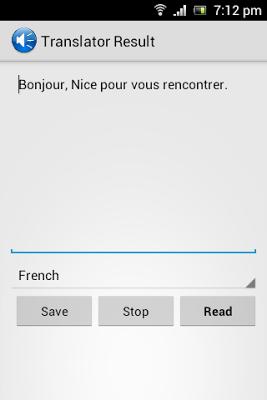 Talking Translator Pro - screenshot