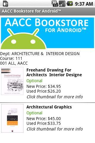 AACC Bookstore for Android™- screenshot