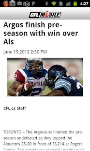 CFL Mobile - screenshot thumbnail