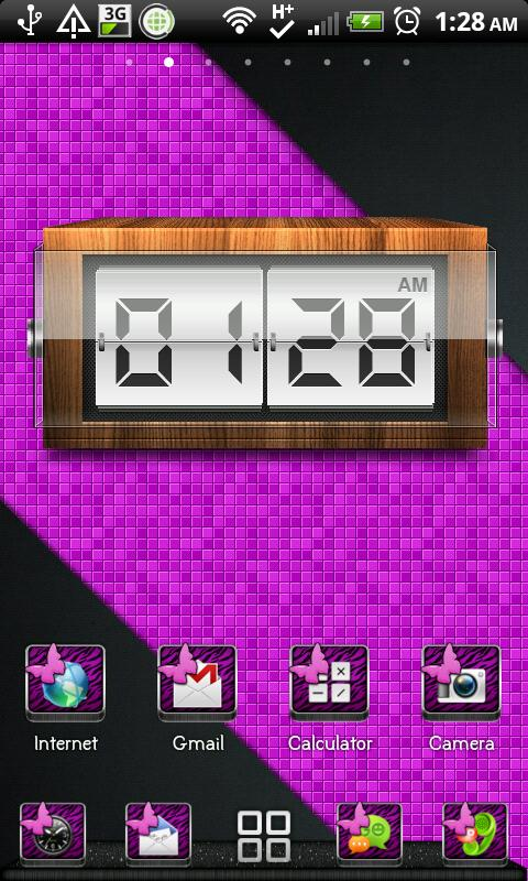 THEME|PurpleZebraButterfly - screenshot