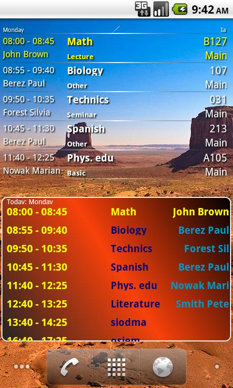 Student Timetable Helper - screenshot