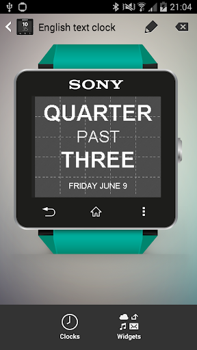 Smartwatch Text Clock