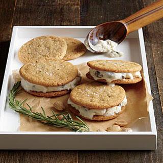 Marcona-Rosemary Ice Cream Sandwiches