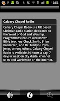 Screenshot of Calvary Chapel Radio