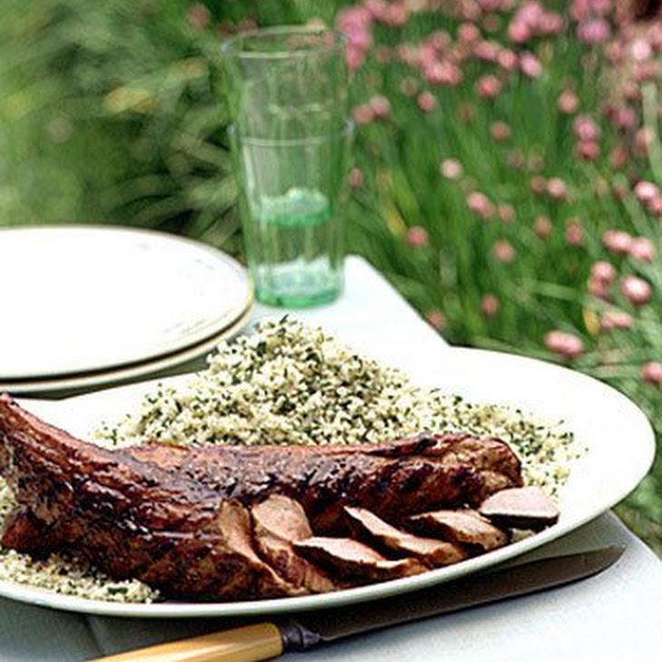 Pork Tenderloin with Molasses Glaze and Couscous
