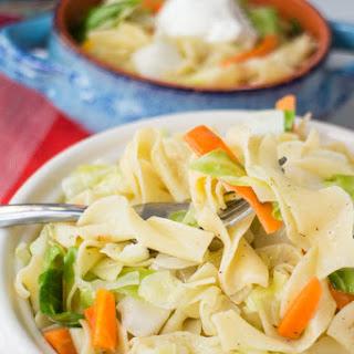 Haluski AKA Polish Cabbage and Noodles.
