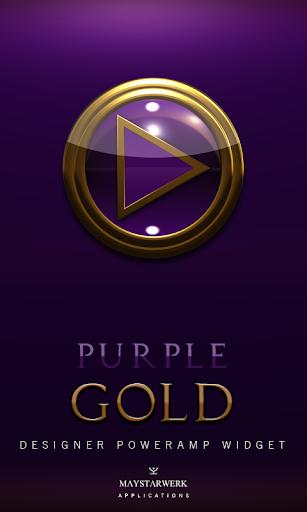 Poweramp Widget Purple Gold