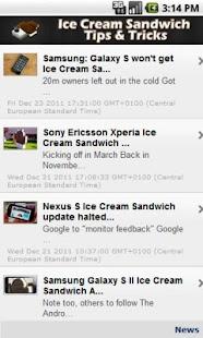 Ice Cream Sandwich Tips Screenshot 2