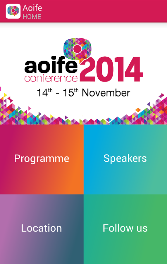 Aoife Conference 2014- screenshot