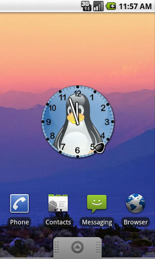 Tux Linux Clock Widget