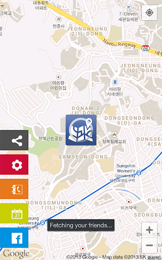 LocateYou -Facebook on the map