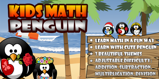 Kids Math Penguin