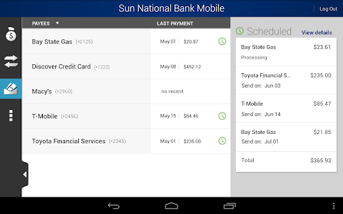Sun National Bank - screenshot thumbnail
