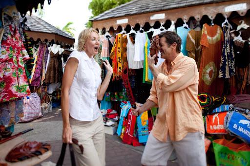 shop-marigot-market-St-Maarten - Shopping at the Marigot Market in St. Maarten.