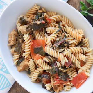 3 Ingredient Pasta Sauce- Vegan Sausage, Tomatoes and Spinach