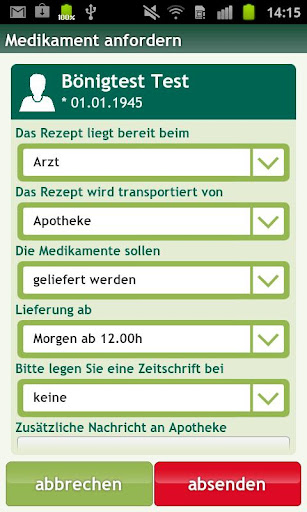 ordermed - Rezept Medikament