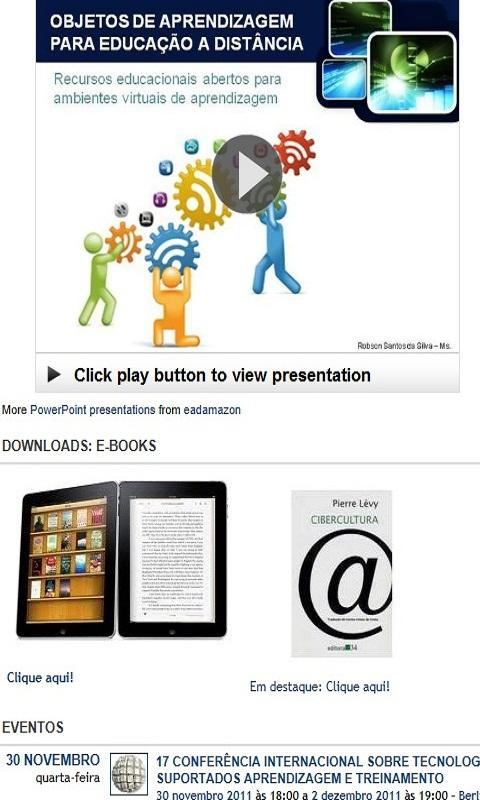 EAD Mobile and E-learning - screenshot