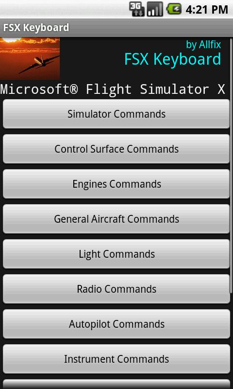 FSX Keyboard- screenshot